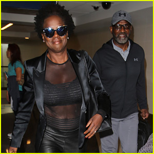 Viola davis husband julius tennon premiere their new show at viola davis bares her abs in sheer look at the airport thecheapjerseys Images