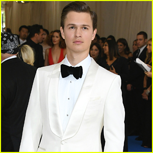 Ansel Elgort Suits Up for Met Gala 2017