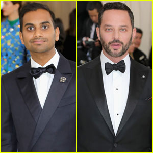 Aziz Ansari & Nick Kroll Get Serious For Met Gala 2017