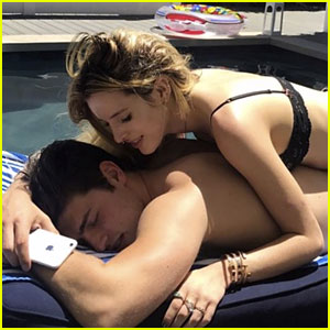 Bella Thorne Hits the Pool with Gregg Sulkin for His Birthday
