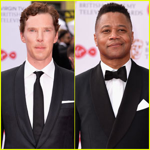 Benedict Berbatch Cuba Gooding Jr Suit Up For Bafta