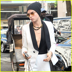 Cara Delevingne Shows a Peek at Her Shaved Head in New Photo