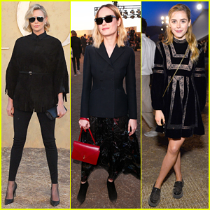 Charlize Theron, Brie Larson & Kiernan Shipka Represent The Blondes At Dior Cruise Show!