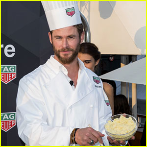 Chris Hemsworth Can Even Make This Chef Outfit Look Sexy!