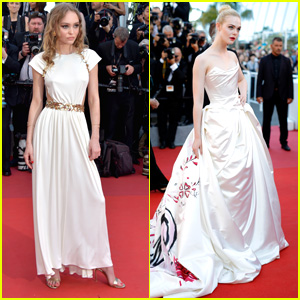 Lily Rose Depp Elle Fanning Steal The Show At Cannes Opening Ceremonies