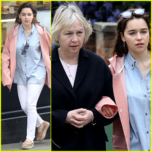 Emilia Clarke Takes Sweet Stroll With Her Mom After Urging UK Citizens to Vote