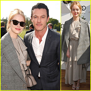 Luke Evans Hangs Out with a Different Emma... Emma Stone!