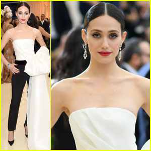 Emmy Rossum Rocks One Serious Bow at Met Gala 2017