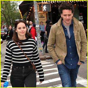 Felicity Jones & Boyfriend Charles Guard Hang in New York City Ahead of Met Gala