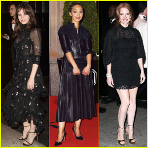 Felicity Jones, Ruth Negga & Jessica Chastain Go Dark For Met Gala After Party Looks!