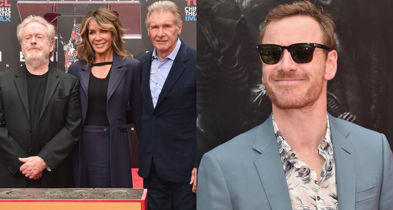 Harrison Ford Michael Fassbender Amp Alien Cast Support