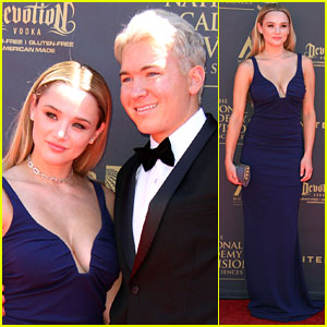 Hunter King Stuns at Daytime Emmys 2017 with Boyfriend Nico Svoboda!