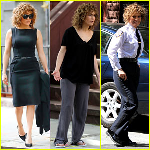 Jennifer Lopez Gets Into Character in Three Very Different Outfits on 'Shades of Blue' Set