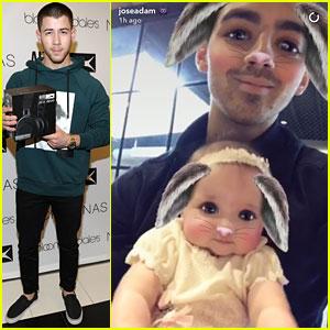 Joe Jonas Turns Niece Valentina Into Cute Bunny!