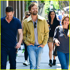 Joshua Jackson Can't Contain His Joy While with Friends!