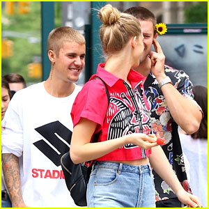 Justin Bieber Runs Into Pal Patrick Schwarzenegger in NYC!