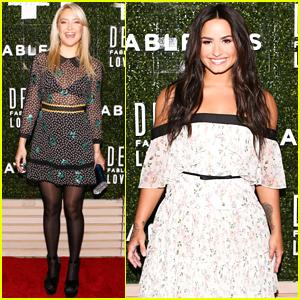 Kate Hudson Helps Launch Demi Lovato's Fabletics Collaboration
