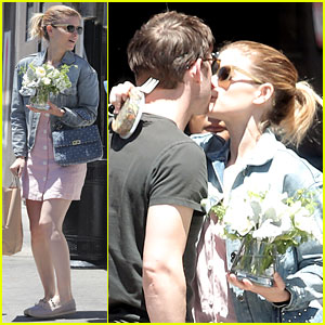 Kate Mara & Jamie Bell Share a Smooch on a Sunny Day in Venice