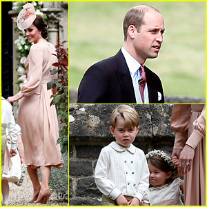 Kate Middleton, Prince William, & Kids Attend Pippa's Wedding! (Photos)
