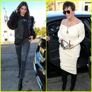 Kendall Jenner Looks Super Chic for Dinner with Mom Kris