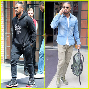 Michael B. Jordan Checks Out of the Bowery Hotel After Met Gala 2017