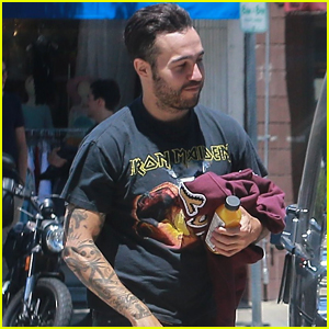 Pete Wentz Grabs Lunch with Son Bronx in Studio City