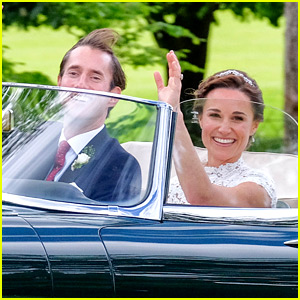 Just Married! Pippa Middleton & Husband James Matthews Leave Wedding in Jaguar Convertible