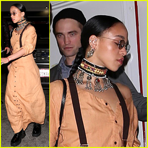 Robert Pattinson & FKA twigs Dine with Friends on Friday Night