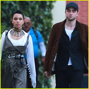 Robert Pattinson & FKA Twigs Grab Birthday Dinner With Friends