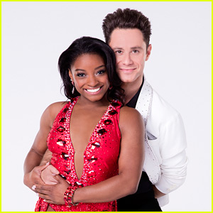 Simone Biles & Sasha Farber Foxtrot Their Way Through 'DWTS' Week 8 - Watch Now!