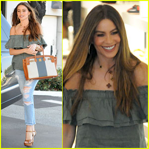 Sofia Vergara is All Smiles in the Shoe Store (We Totally Get It)
