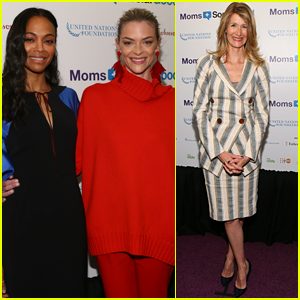 Zoe Saldana Teams Up with Jaime King & Laura Dern to Support Global Mom's Relay