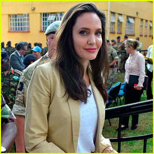 Angelina Jolie Spends World Refugee Day in Kenya