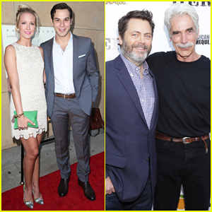 Anna Camp & Hubby Skylar Astin Couple Up At 'The Hero' Premiere - Watch Trailer!