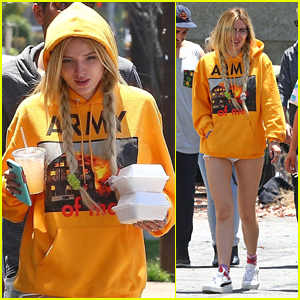Bella Thorne Grabs Lunch with Friends in Los Angeles