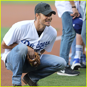 Chad Michael Murray & Sarah Roemer Take Their Son to Dodgers Baseball Game