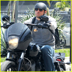 Charlie Hunnam Goes for a Motorcycle Ride Around LA