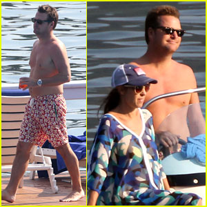 Chris O'Donnell Goes Shirtless for Family Vacation at Lake Como