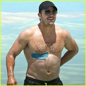 Chris Pratt Goes Shirtless in Hawaii, Wears Athletic Tape on His Muscles!