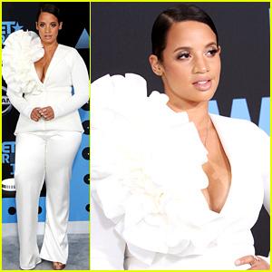 OITNB's Dascha Polanco Wears Ruffled White Suit to BET Awards 2017!