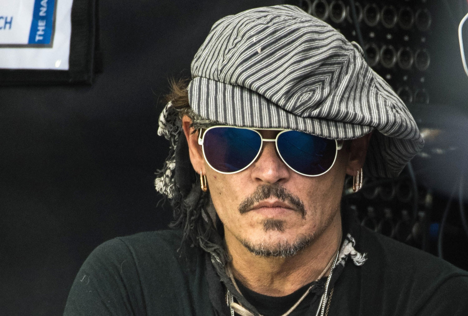 johnny depp takes in live at glastonbury