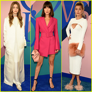 Gigi & Bella Hadid Join BFF Hailey Baldwin at CFDA Awards!