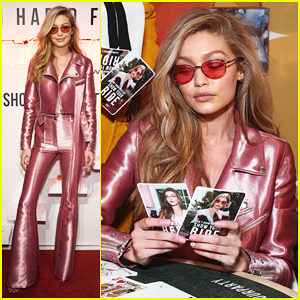 db5842c2f033 Gigi Hadid Is Decked Out In Pink For Vogue Eyewear Launch ...