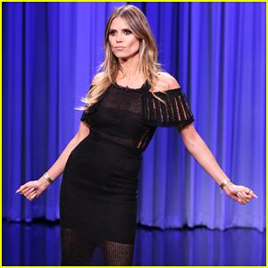 Heidi Klum & Jimmy Fallon Battle It Out In Hilarious 'Tonight Show' Dance-Off - Watch Now!