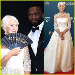 Helen Mirren & 50 Cent Make Unlikely Pair at Monte Carlo TV Festival!