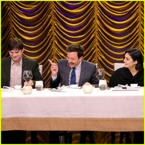 Watch Liam Payne, Ashton Kutcher, & Vanessa Hudgens Eat Gross Food on 'Fallon Tonight' (Video)