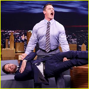 John Cena Deadlifts Jimmy Fallon on 'The Tonight Show' (Video)