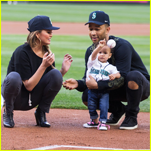 John Legend & Chrissy Teigen's Daughter Luna Throws First Pitch!