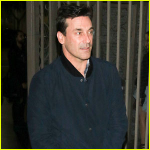 Jon Hamm Greets Fans After Catching a Show in Hollywood
