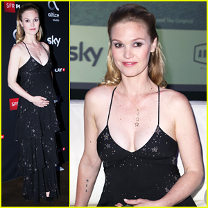 Julia Stiles Shows Off Baby Bump At Paris Premiere Of 'Riviera' - Watch Teaser Trailer!